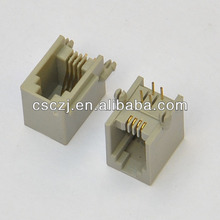 Side entry 4p RJ11 Telephone Jack connector