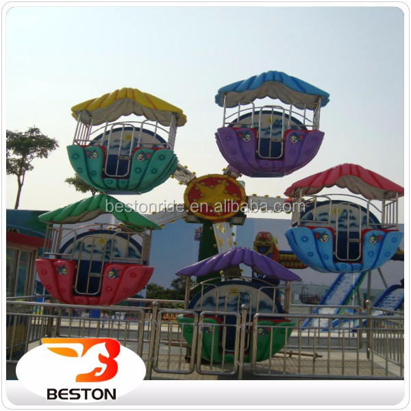 Playground outdoor games rides for children small electric ferris wheel