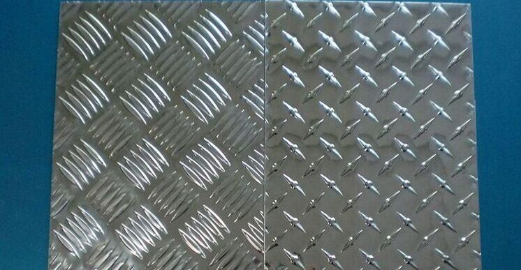 Aluminum tread plate 1050 5 bar checkered plate for bus truck floor