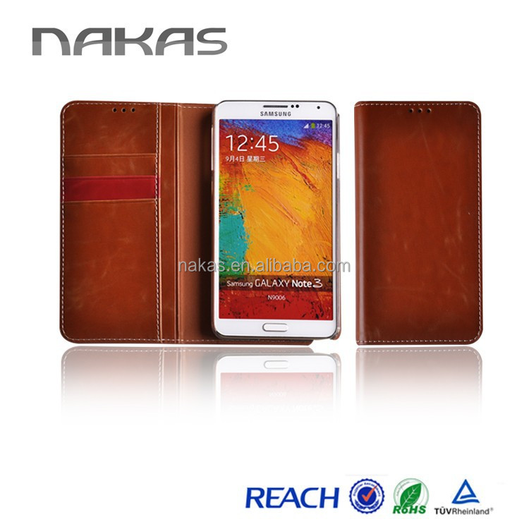 Hot Selling High Quality Mobile Phone Cover Galaxy Note 3 Flip Leather Case For Samsung N900