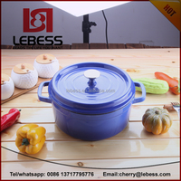 good quality blue color enamel pot for cookware set