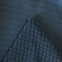 China Suppliers 95 Polyester 5 Spandex Knitted Fabric Black Tubular Rib Fabric