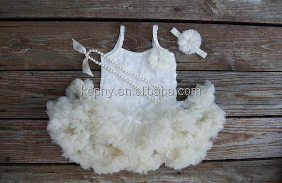 Ivory Pettiskirt- Baby Skirt- Toddler Skirt- Girls Ivory Skirt-Lace Petti- 1st Birthday Outfit- Tutu skirt-Extra Fluffy Skirt