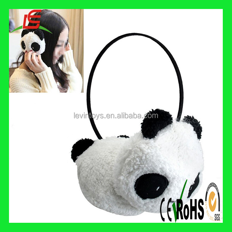 D390 2016 hot sale knitting ear muff cute panda earcap