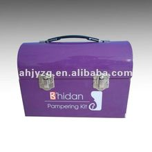 plastic handle lunch handbag tin box