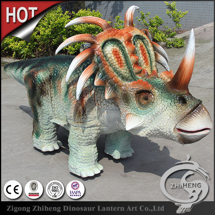 Children love walking ride a coin operated dinosaur