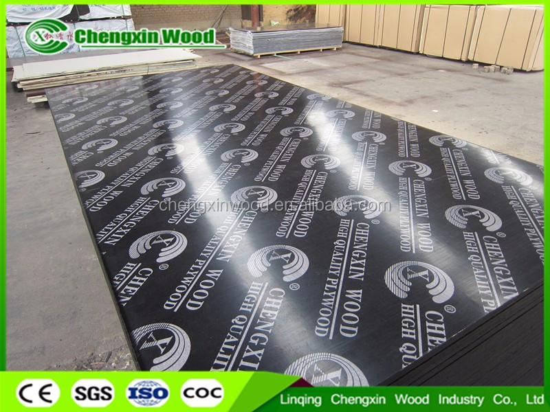 18mm recycled core melamine glue black film faced plywood