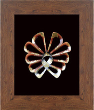 63x73CM Wood grain frame magnetic wall Butterfly shadow box