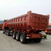 high quality 3 axles international hydraulic cargo sump semi trailer for sale
