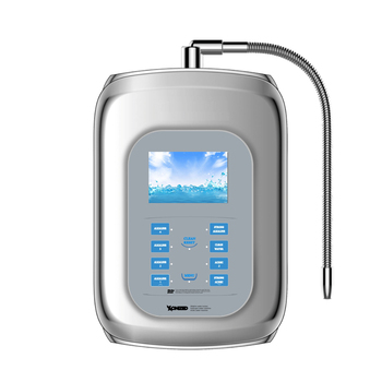 2017 water ionizer alkaline machine oem or brand with 9999liter filter with tap faucet with 5 stage 0.01 water clear filter