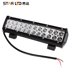 Factory wholesale 12 inch 4x4 72W SPOT BEAM led offroad light bar for jeep wrangler jk