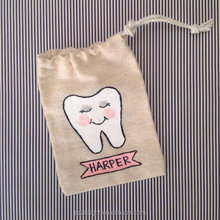 Cotton muslin Tooth goody small pouch bag