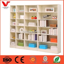 Library book shelf with adjustable shelves/store used book racks furniture