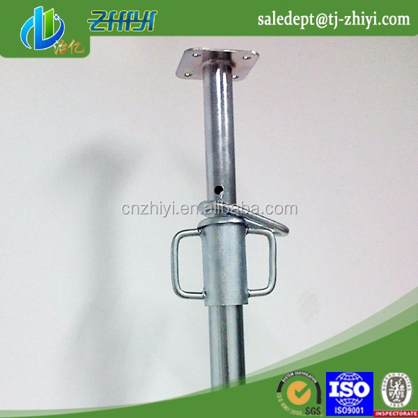 Tianjin manufacturer metal formwork pops Telescopic Cross Head Prop for Floor Post for construction