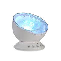 Private Label Remote Control Ocean Wave Night Light Projector For Bedroom Living Room Baby Nursery Children Adults Night Light