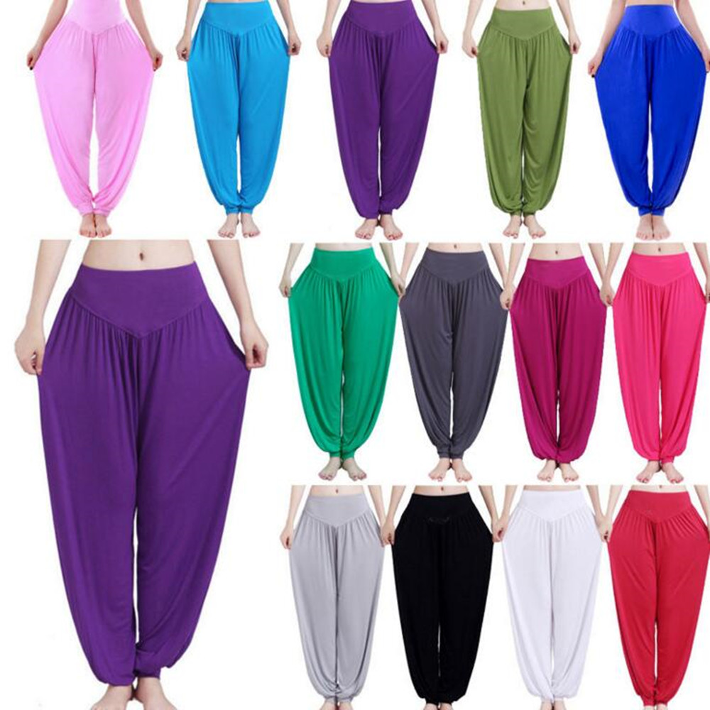 Wholesale Women Modal Cotton Soft Yoga Sports Dance Harem Pants