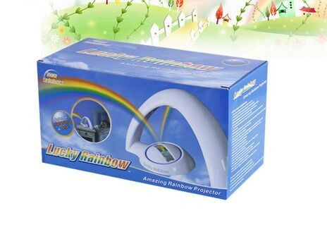 Creative Star Projector Lamp / led rainbow projector gift / push-button