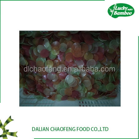 China factory dalian dried red white multi colored prawn crackers box carton package fresh shrimp of