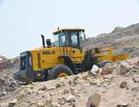 Hot sale SDLG LG956L L956F wheel loader 5 ton rated load used for Gold mining and construction