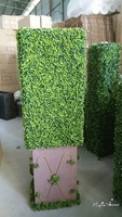 UV-resistant artificial Boxwood Hedge set in Fibreglass Trough for sale