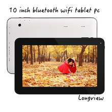 "10"" Android 4.4 KitKat quad core touch tablet MID 10inch with 1GB RAM 16GB flash bt 2 cameras"