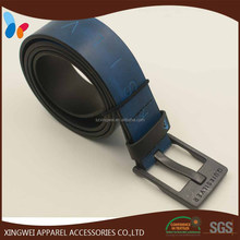 Engraved logo military leather belt