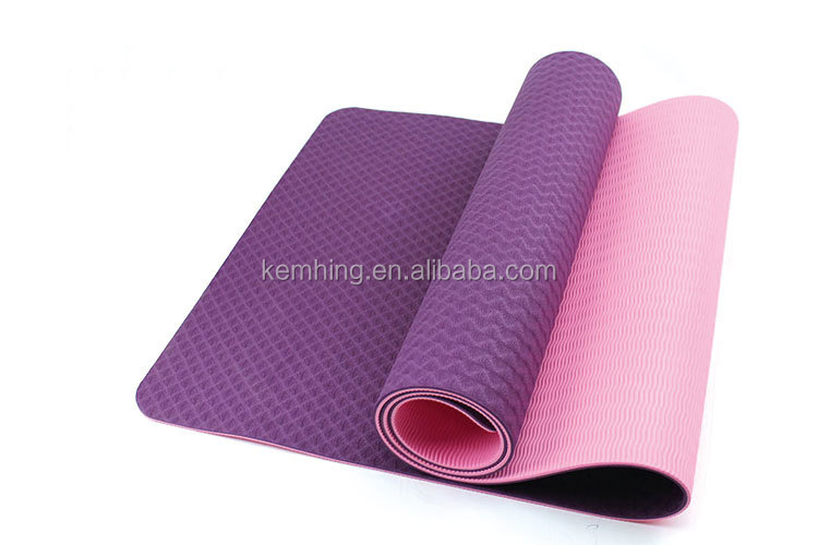 China alibaba express eco-friendly yoga mat with bag TPE rubber black yoga mat