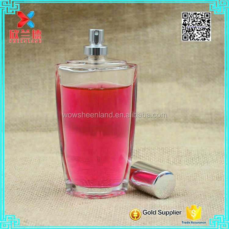 2017 new product 100ml decorative spray pump perfume bottle