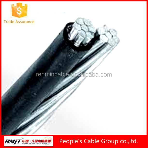 zhengzhou Manufacturer Low Voltage negro black PE/XLPE ABC Twisted Cable