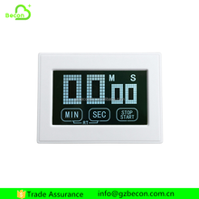 Square LCD Timer Touch Sreen Laboratory Digital Kitchen Cooking Timer
