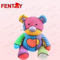 Colorful combined Pop Plush 20cm Kids Dolls Birthday Small Bear for Toy Gift
