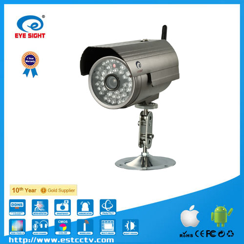 Wireless IPCAM, Onvif 1 MP P2P IP Camera Outdoor