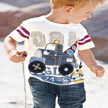 Cheap Bulk Wholesale 2-4USD Clothing Kids Top Tshirt Design with Cartoon Pattern