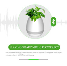 Bluetooth LED Bulb Smart Touch Sensor Piano sound bar Waterproof Bluetooth Music Flower Pots Speaker
