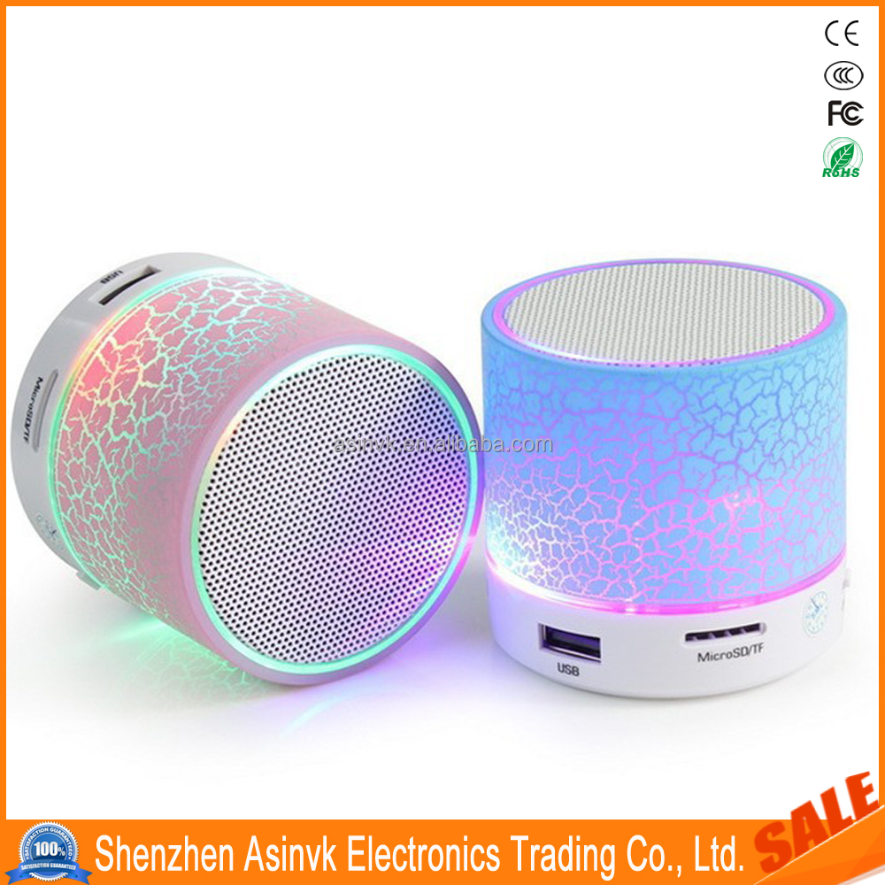Portable Blu tooth Wireless Speaker Light Build-in Microphone Support FM Radio, USB SD TF Card for Phone, Pad, Blu tooth Devices