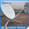 1.8m lightweight carbon fiber manual flyaway uplink antenna