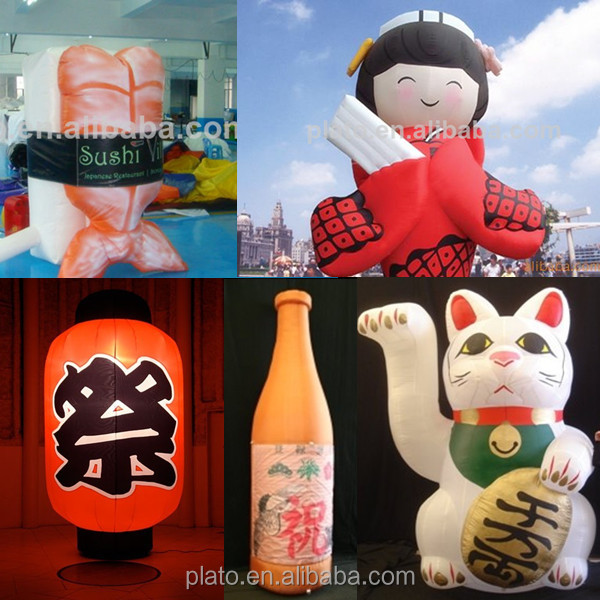 Cute inflatable Japanese cartoon character event decoration