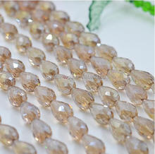 China factory clothing decoration crystal beads tear drop glass jewery stone