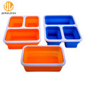 Custom Silicone Airtight Food Storage Container With Lid 3 Compartment
