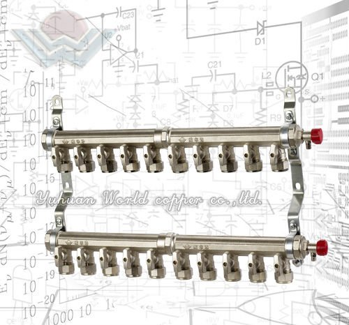 WD-3310 10-Way Brass Manifold