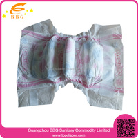 100% cotton pink disposable diapers factory in china