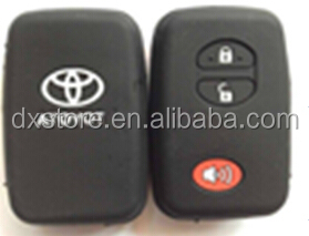 2+1 buttons silicone car key remote covers for Toyota Camry key Toyota silicone smart cover