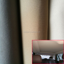 Sponge bonded Car upholstery fabric & Car headliner or Car Roof Fabric