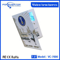 Promotional Paper Business Card 7 inch digital picyure frame with ms card and usb