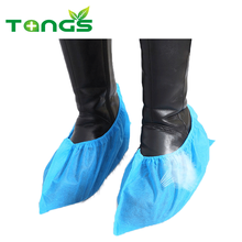 Customized supplier welding leather non woven shoe cover