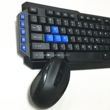 Elegant wireless keyboard and mouse combo with hotkeys