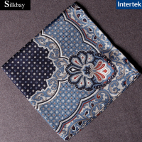 Printed 100% silk pocket square silk scarf 30x30cm