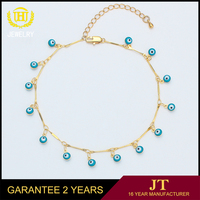 Fashion Chain Link Beach Anklets Gold Plated Cross Anklet Bracelet Foot Jewelry