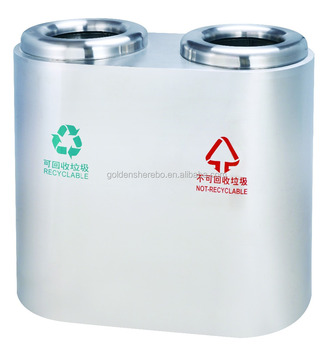Best quality factory customized stainless steel rubbish bin