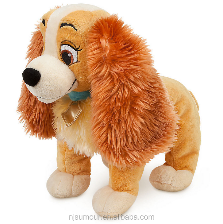 "Lady & the Tramp BIG Plush Toy Doll 14"" Cute Dog Stuffed Animal NWT"